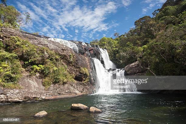 Sri Lanka, Central Province, Horton Plains National Park, waterfall