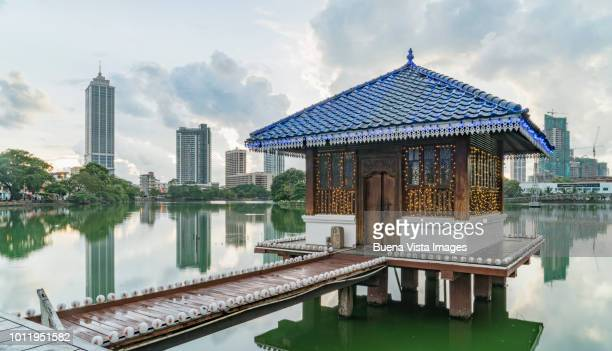 sri lanka. colombo. pagoda in a buddhist temple - colombo stock pictures, royalty-free photos & images