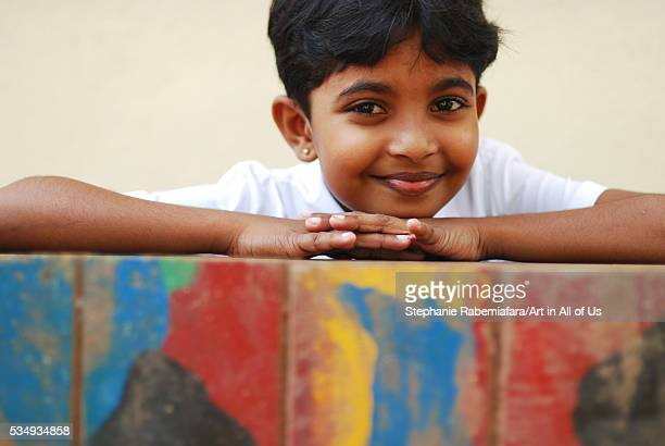 Sri Lanka Colombo portrait of little girl at school