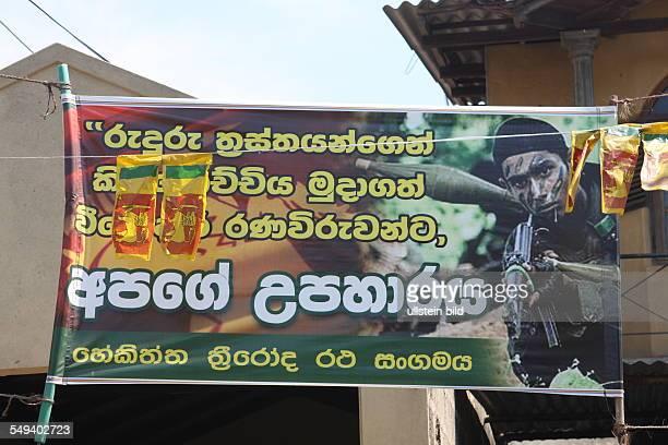 Sri Lanka. Colombo: war propaganda in the city