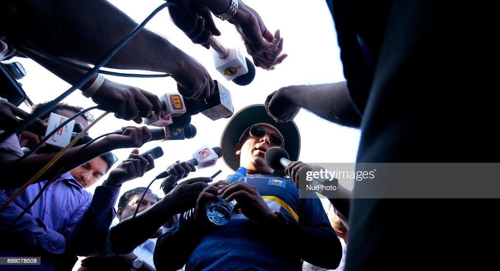 Sri Lanka cricket's new head coach Chandika Hathurusingha speaks to media following a training session with Sri Lankan cricketers at R Premadasa cricket stadium, Colombo, Sri Lanka on Thursday 28 December 2017. Sri Lanka will be leaving to Bangladesh on Saturday, 13th January to take part in a Tri-Nation One Day International cricket Tournament with Bangladesh and Zimbabwe followed by two test matches and two Twenty-20 matches against host Bangladesh.