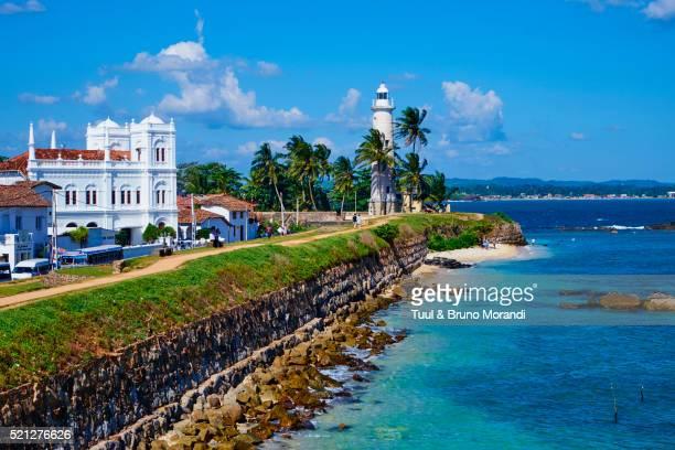 sri lanka, galle, dutch fort, lighthouse - sri lanka stock pictures, royalty-free photos & images
