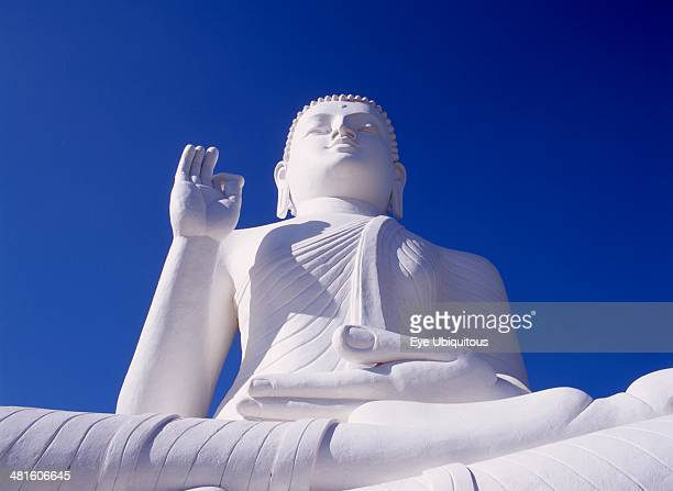 Sri Lanka Mihintale Large white seated Buddha