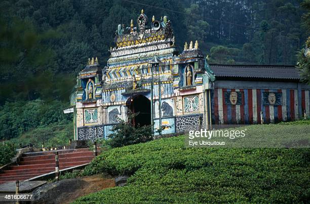 Sri Lanka Nuwara Eliya Hindu Temple in the center of a tea plantation