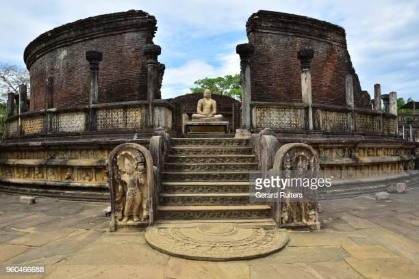 sri lanka, polonnaruwa - ruina antigua fotografías e imágenes de stock