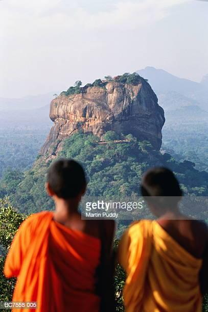 Sri Lanka, Sigiriya Fortress, young Buddhist monks in foreground