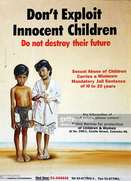 LKA Sri Lanka Uswetaketyawa The Salesian fight against pedophilia and helps the young boys to get education Flyer against paedophilia