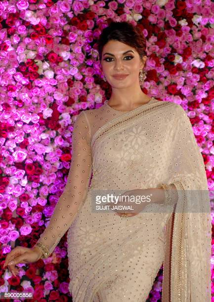 Sri Lankan Bollywood actress Jacqueline Fernandez poses for a photograph during a promotional event in the Indian city of Mumbai on late December 10...
