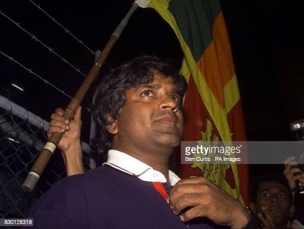 Sri Lankan Captain Arjuna Ranatunga leaves the disciplinary hearing in Perth after receiving a suspended sentence and a fine * 29/4/01 The...