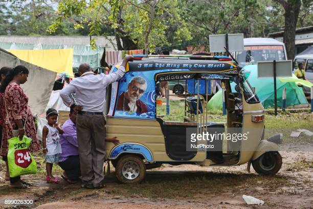 Sri Lankan Catholic pilgrims camp on the grounds of the Shrine of Our Lady of Madhu during the Feast of Our Lady of Madhu in Mannar Sri Lanka With a...