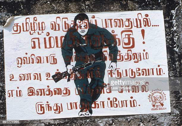 Sri Lankan Civil War a poster of the Tamil Tigers Sri Lanka 1984