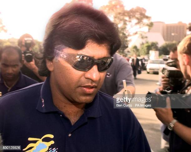 Sri Lankan Cricket Captain Arjuna Ranatunga arrives at a disciplinary hearing at the Adelaide Oval where he is facing charges by match referee Peter...