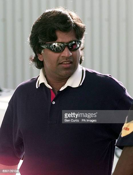 Sri Lankan cricket captain Arjuna Ranatunga arrives at the disciplinary hearing in Perth where he is facing charges arising from his behaviour at the...