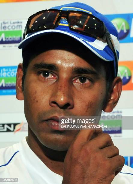 Sri Lankan cricketer Chaminda Vaas addresses a press conference at The Sinhalease Sports Club grounds in Colombo on July 19 2009 Veteran Vaas said he...