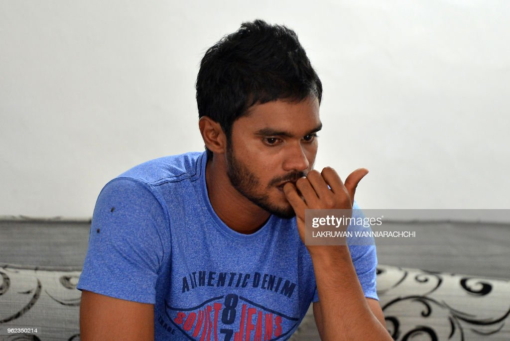 At Home De sri lankan cricketer dhananjaya de silva is photographed at home in