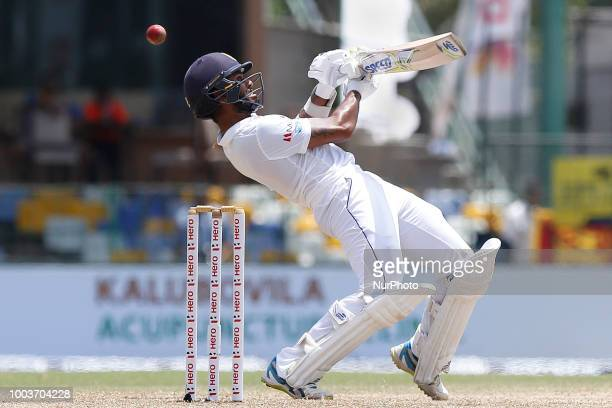 Sri Lankan cricketer Dimuth Karunaratne during the 3rd day's play in the 2nd test cricket match between Sri Lanka and South Africa at SSC...