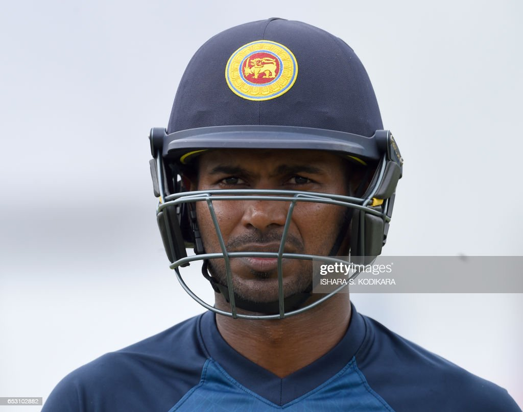 Sri Lankan cricketer Upul Tharanga looks on during a practice session at The P. Sara Oval Cricket Stadium in Colombo on March 14, 2017. Bangladesh play their 100th Test on March 15, against Sri Lanka at The P. Sara Oval Cricket Stadium in Colombo. / AFP PHOTO / Ishara S. KODIKARA