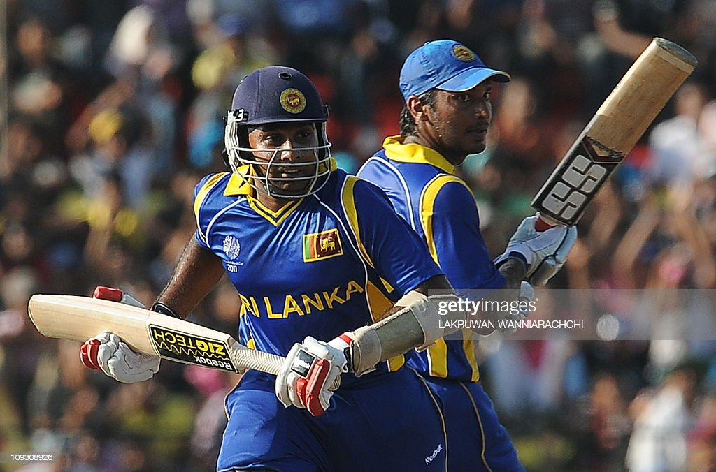 Sri Lankan cricketers Mahela Jayawardene : News Photo