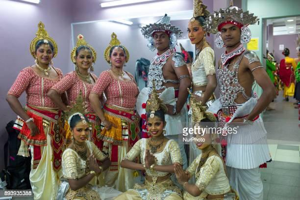 Sri Lankan dancers pictured during the KL GENTA 2017 at Panggung Anniversary Taman Botani Perdana in Kuala Lumpur Malaysia on December 16 2017 The KL...