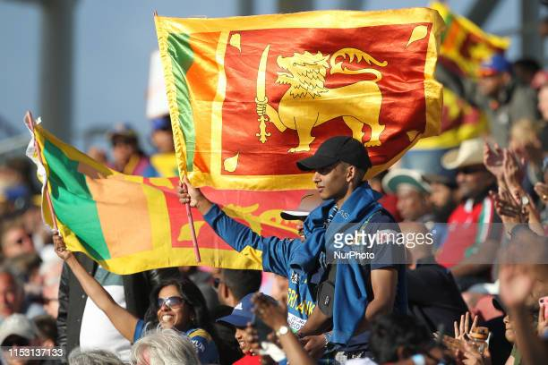 Sri Lankan fans celbrating after their victory over the West Indies during the ICC Cricket World Cup 2019 match between Sri Lanka and West Indies at...