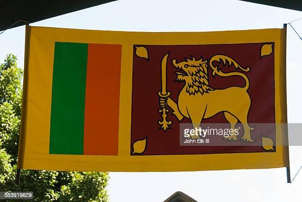 sri lankan flag - sri lankan flag stock pictures, royalty-free photos & images