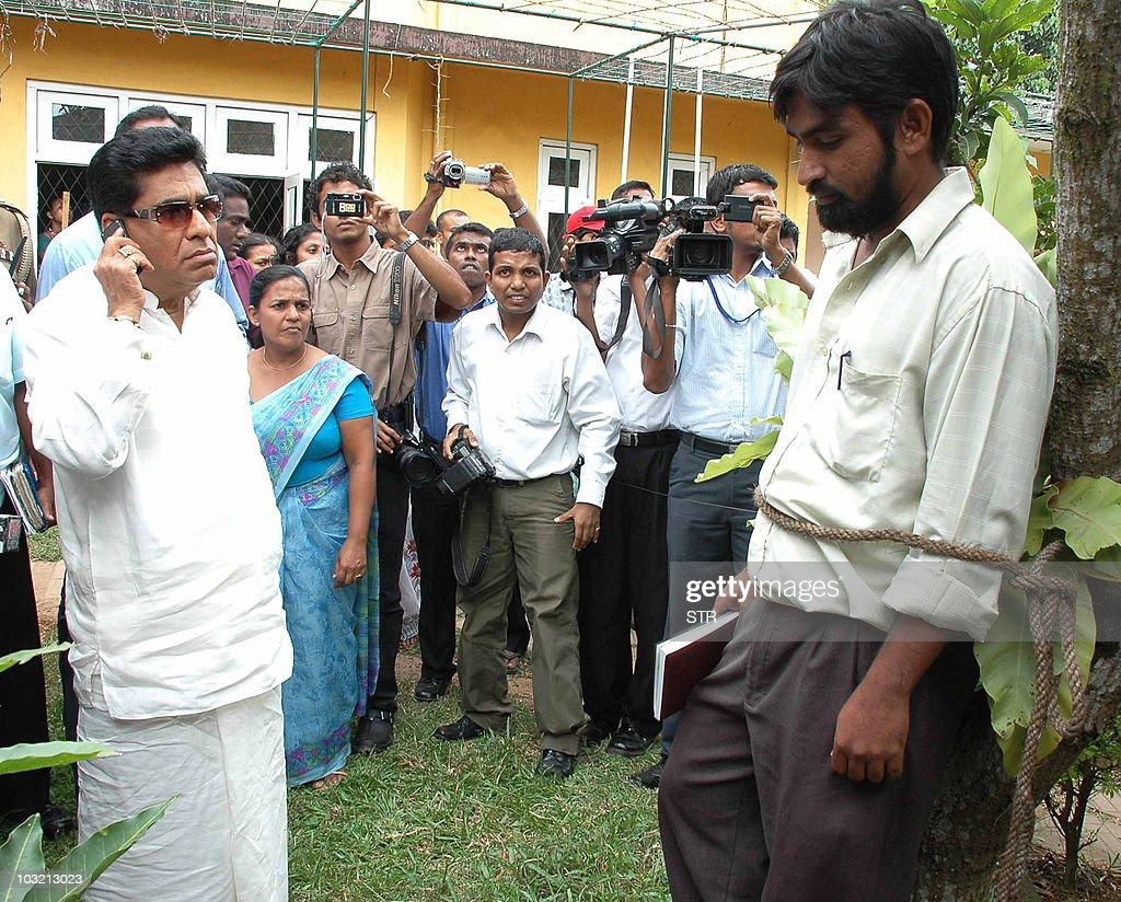 Sri Lankan Highways Minister Mervyn Silv : News Photo