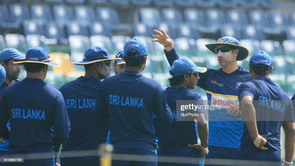 Sri Lanka and Zimbabwe warm up for 2nd ODI cricket match
