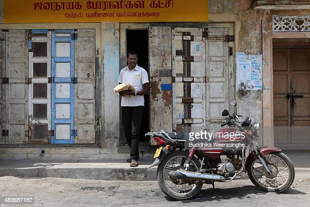 Sri Lankan parliamentary election candidate and minority ExTamil rebel carder Sivanthan Navidra aka Venthan a former bodyguard of the slain Tamil...