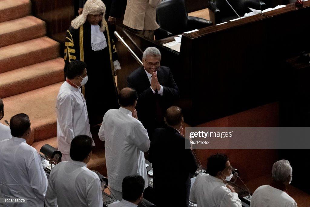 Sri Lankan President Gotabaya Rajapaksa At New Parliament Sri Lanka : News Photo