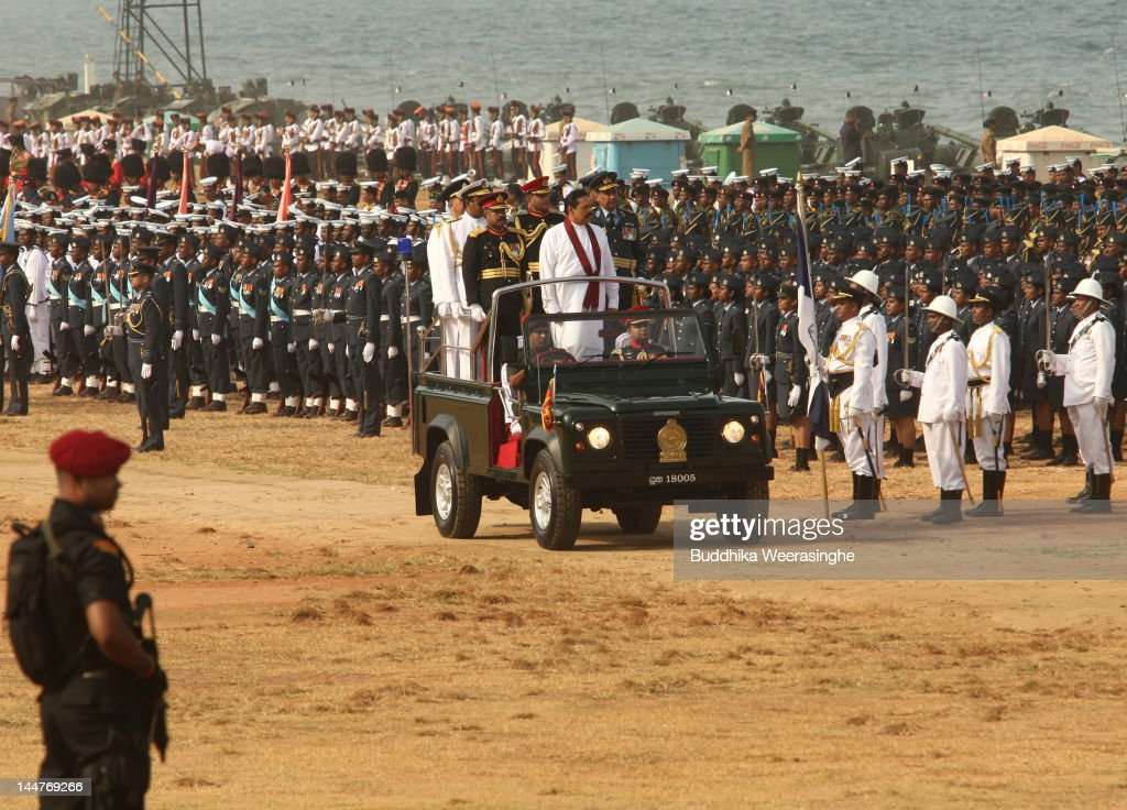 Sri Lankan Military March To Commemorate End Of Civil War : News Photo