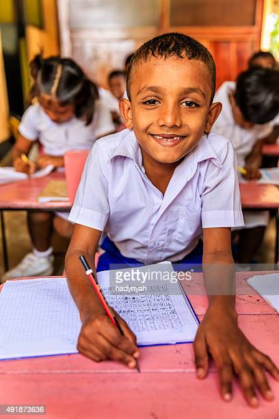 Sri Lankan school children in classroom