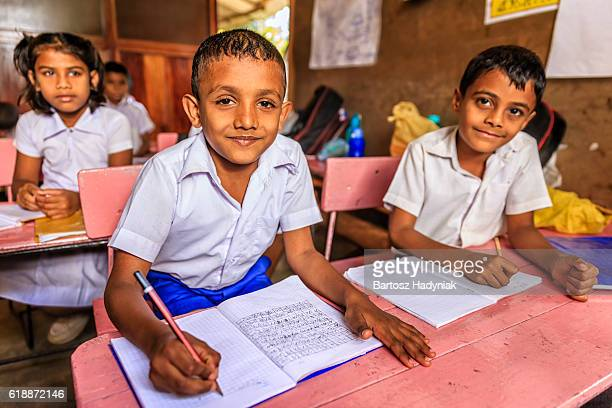 sri lankan school children in classroom - childhood stock pictures, royalty-free photos & images