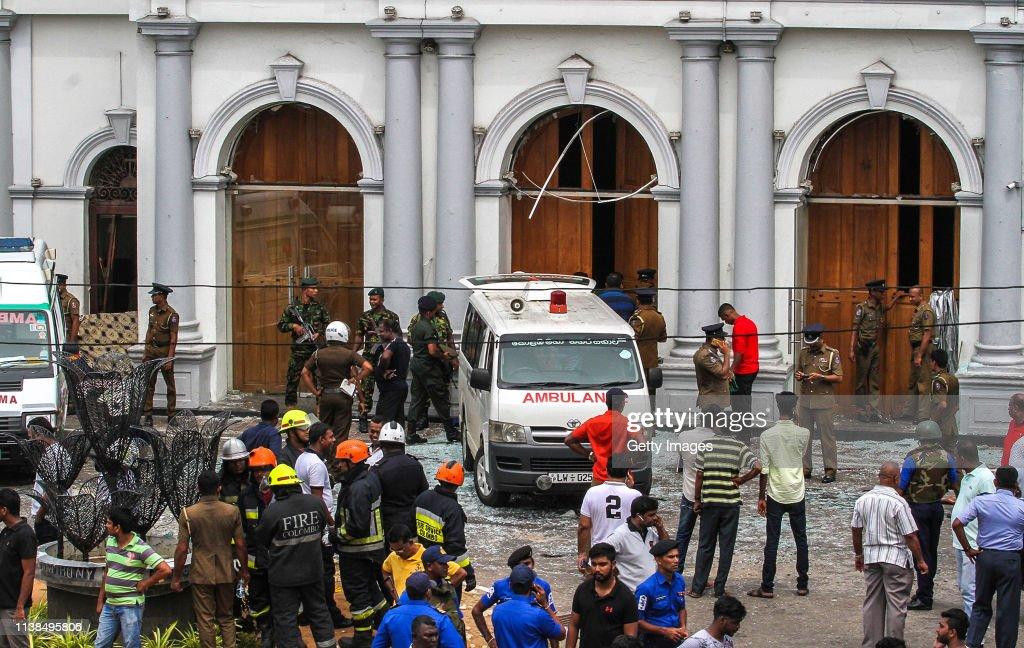 Multiple Explosions Hit Sri Lanka On Easter Sunday : News Photo