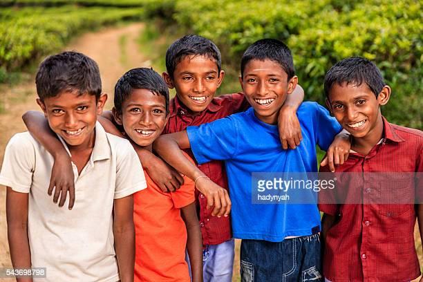 sri lankan young boys near nuwara eliya, ceylon - sri lankan culture stock pictures, royalty-free photos & images