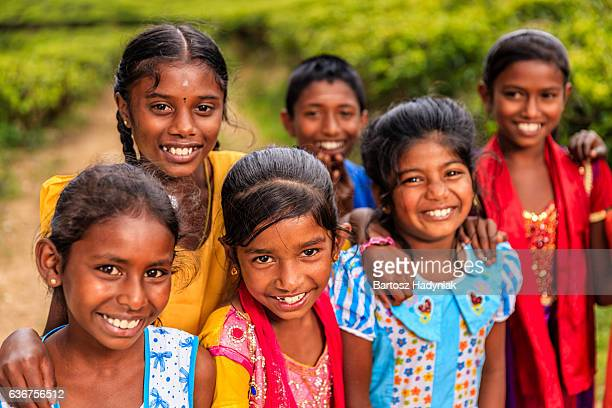 Sri Lankan young children near Nuwara Eliya, Ceylon