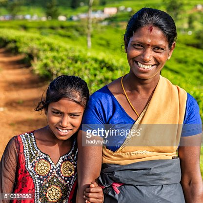 Portrait Of Sri Lankan Young Girl Near Nuwara Eliya Ceylon