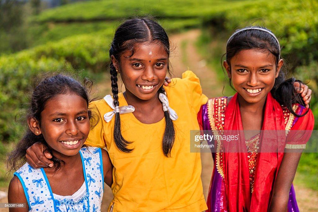 Sri Lankan Little Girl With Her Mother Nuwara Eliya Ceylon