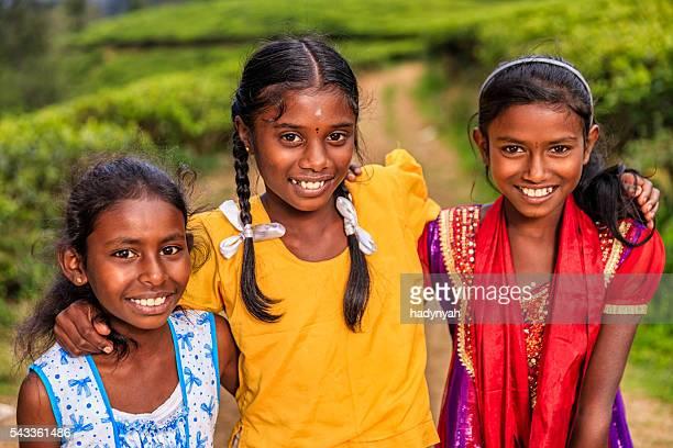 Sri-lankische junge Mädchen in der Nähe von Nuwara Eliya, Ceylon