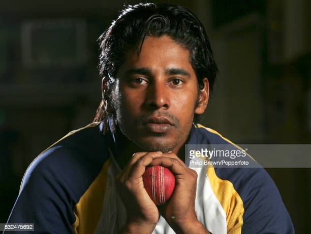 Sri Lanka's Chaminda Vaas poses for photos during the tour match between Sussex and Sri Lankans at Hove 21st May 2006