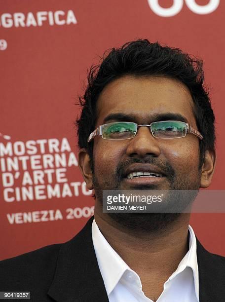 "Sri Lanka's director Vimukhti Jayasundara poses during the photocall of ""Ahasin Wetei"" at the Venice film festival on September 7, 2009. ""Ahasin..."