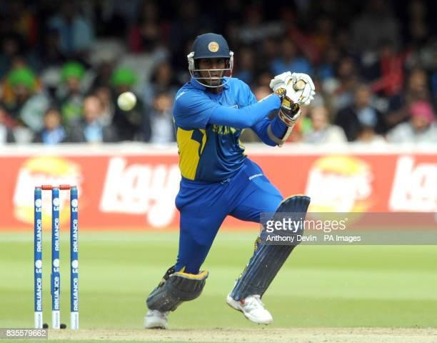 Sri Lanka's Jehan Mubarak bats during the ICC World Twenty20 Super Eights match at Lord's London