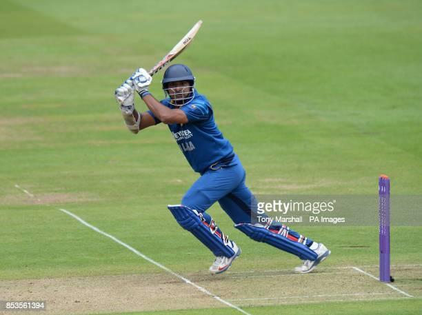 Sri Lanka's Kumar Sangakkara batting during the Fourth One Day International at Lords Cricket Ground, London.