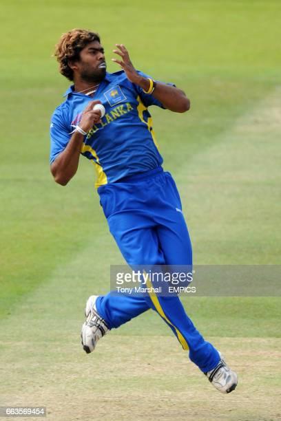 Sri Lanka's Lasith Malinga bowls against Pakistan