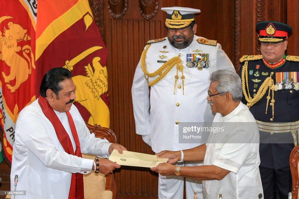 Sri Lanka's New Prime Minister Mahinda Rajapaksa : News Photo