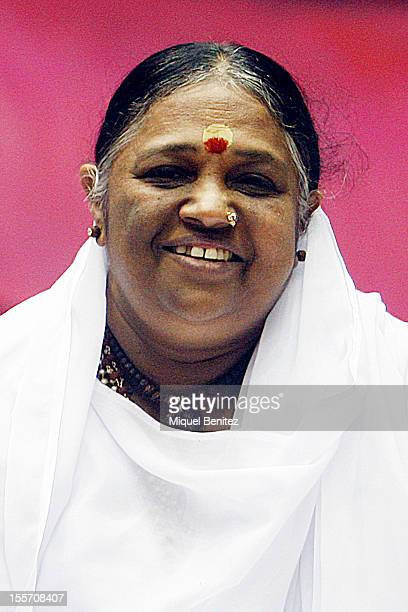 Sri Mata Amritanandamayi Devi known as 'Amma' prepares the Darshan on November 7 2012 in Granollers Spain
