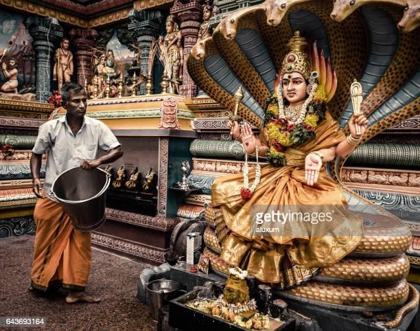 sri nageswari amman in sri vadapathira kaliamman temple singapore - hindu god stock pictures, royalty-free photos & images
