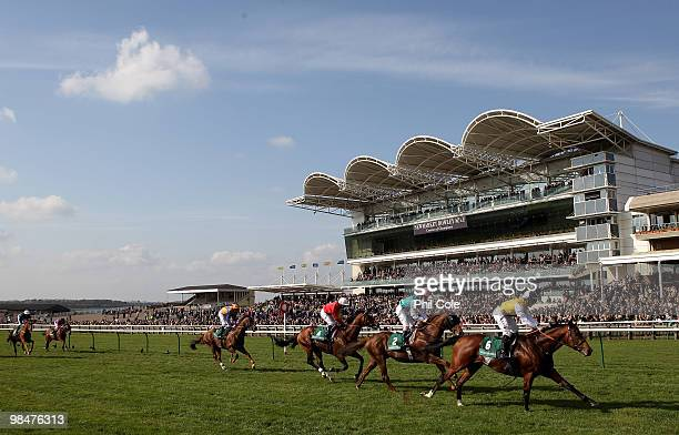 Sri Putra ridden by Neil Callan passes the finish line to win the Weatherbys Bloodstock racecard Earl of Sefton Stakes on April 14 2010 in Newmarket...