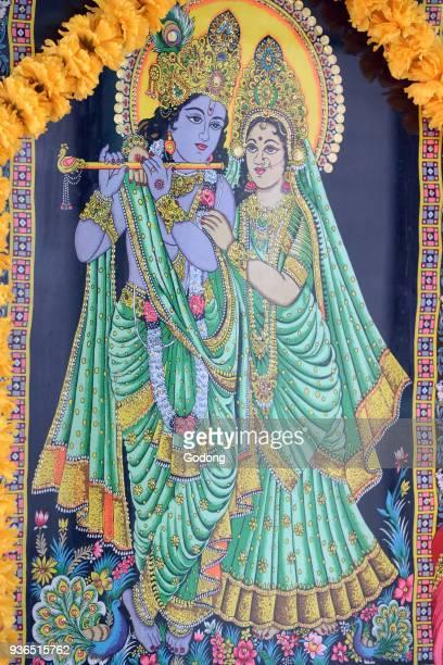Sri Thenday Yutthapani Temple Krishna and Radha Painting Ho chi Minh City Vietnam