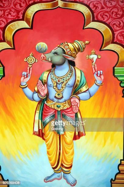 Sri Vadapathira Kaliamman hindu temple Avatar of Vishnu Varaha 3rd incarnation Singapore