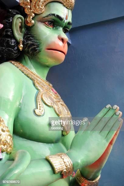 Sri Vadapathira Kaliamman hindu temple The Hindu God Hanuman Monkey God and Hero of the Ramayana Singapore